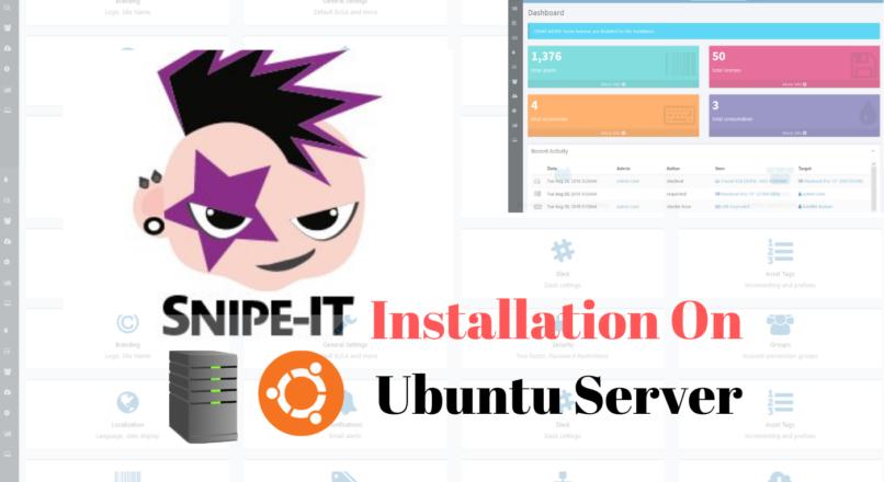 Snipe-IT installation on Ubuntu Server