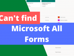 Can't find personal/all Microsoft Forms